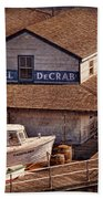 Boat - Tuckerton Seaport - Hotel Decrab  Beach Towel by Mike Savad