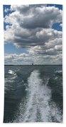 Boat Wake 01 Beach Towel