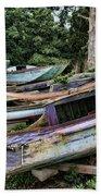 Boat Yard Beach Towel by Heather Applegate