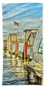Boathouse Alley Beach Towel