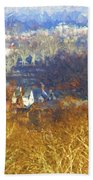 Boathouse Row Impasto Beach Towel