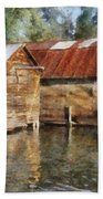 Boathouses On The Torch River Ll Beach Towel