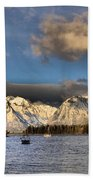Boating In The Tetons Beach Towel by Dan Sproul