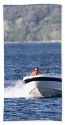 Boating On Grand Traverse Bay Beach Towel