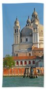 Boating Past Basilica Di Santa Maria Della Salute  Beach Towel