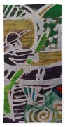 Boatman On The River  Beach Towel