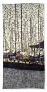 Boats And Bubbles 2 Beach Towel