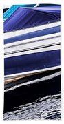 Boats And Reflections Beach Towel