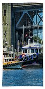 Boats And Tugs Hdrbt3221-13 Beach Towel