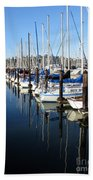 Boats At Rest. Sausalito. California. Beach Towel