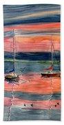 Boats At Skaneateles Lake Ny Beach Towel