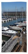 Boats At The San Francisco Pier 39 Docks 5d26004 Beach Towel