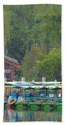 Boats In A Park, Beijing Beach Towel