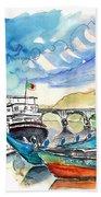 Boats In Barca De Alva 02 Beach Towel