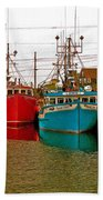 Boats In Branch Marina-nl Beach Towel