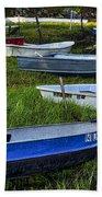 Boats In Marsh - Cape Neddick - Maine Beach Towel