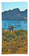 Boats In San Carlos Harbor-sonora-mexico Beach Towel