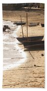 Boats On Beach 02 Beach Towel by Pixel  Chimp