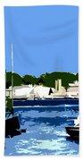 Boats On Strangford Lough Beach Towel