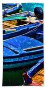 Boats Snuggling - Sicily Beach Towel