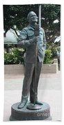 Bob Hope Memorial Statue Beach Towel