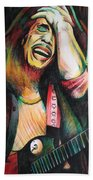 Bob Marley In Agony Beach Towel