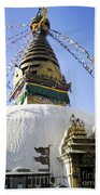 Bodhnath Stupa Beach Towel