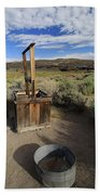 Bodie Ghost Town At The Well Beach Towel
