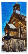 Bodie Ghost Town Methodist Church Beach Towel