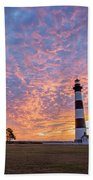 Bodie Island Lighthouse At Sunrise Vetical Beach Towel