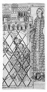 Boethius (c480-c524) Beach Towel