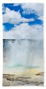 Boiling Point - Geyser Eruption In Yellowstone National Park Beach Towel