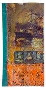 Book Cover Encaustic Beach Towel