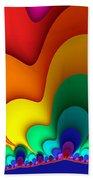 Bold Colors Fractal Beach Towel