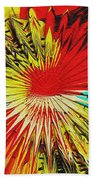 Bold Floral Hat Abstract Beach Towel