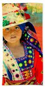 Bolivian Child Beach Towel