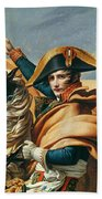 Bonaparte Crossing The Alps Oil On Canvas Detail Of 18491 Beach Towel