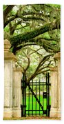Bonaventure Gate Savannah Ga Beach Towel