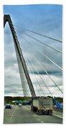 Bond Bridge In Kansas City Beach Sheet