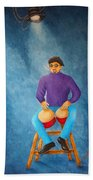 Bongo Man Beach Towel by Pamela Allegretto