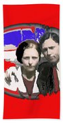 Bonnie And Clyde Close-up Detail Of Larger Image C. 1933-2013 Beach Towel