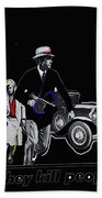 Bonnie And Clyde Poster 1967 Death Valley California 1968-2009 Beach Towel