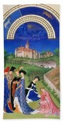 Book Of Hours: April Beach Towel