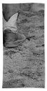 Boots And Horse Hooves Beach Towel