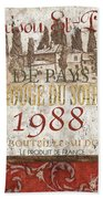 Bordeaux Blanc Label 1 Beach Towel