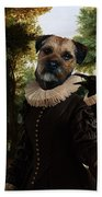 Border Terrier Art Canvas Print Beach Towel