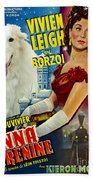 Borzoi Art - Anna Karenine Movie Poster Beach Towel