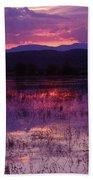 Bosque Sunset - Purple Beach Towel