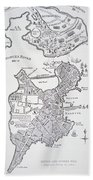 Boston And Bunker Hill 1781 Beach Towel