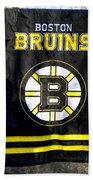Boston Bruins Flag Beach Towel